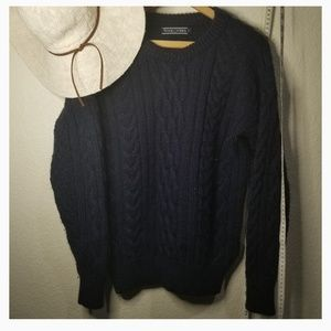 woolovers Sweaters - NAVY BLUE Chunky knitted oversized sweater